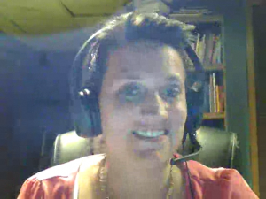 Video call snapshot of Joanne Kaminski