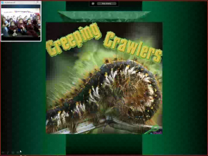"Cover shot of the book ""Creeping Crawlers"""